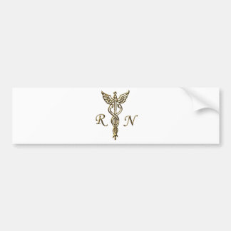 RN Gold Bumper Sticker