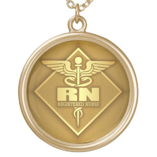 RN (gold)(diamond) Gold Plated Necklace