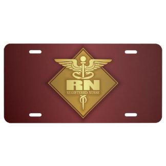 RN (gold)(diamond) License Plate