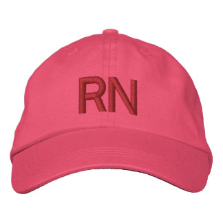 RN hat - pink Embroidered Hat