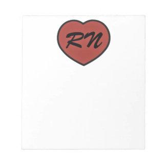 rn heart pixel notepad