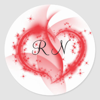 RN heart Stickers
