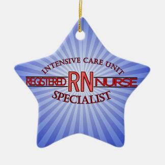 RN ICU SPECIALIST NURSE CERAMIC ORNAMENT