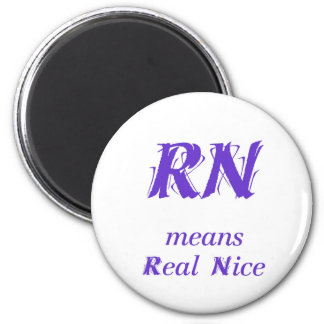 RN in purple Magnet