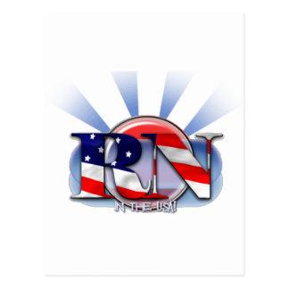 RN in the USA (REGISTERED NURSE) PATRIOTIC Postcard
