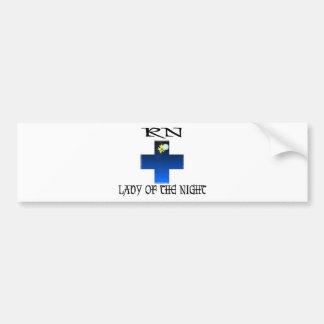 RN-Lady of The Night Car Bumper Sticker