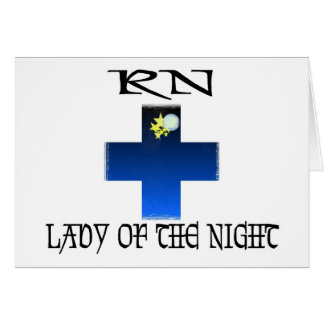 RN-Lady of The Night Greeting Card