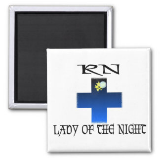 RN-Lady of The Night 2 Inch Square Magnet