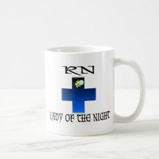 RN-Lady of The Night Classic White Coffee Mug