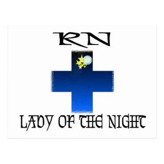 RN-Lady of The Night Postcard