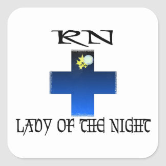 RN-Lady of The Night Square Sticker