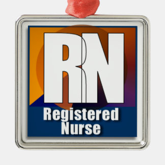 RN LOGO REGISTERED NURSE CHRISTMAS ORNAMENT