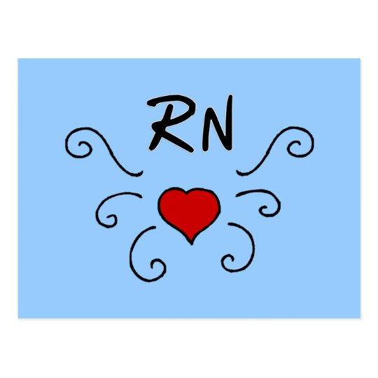 RN Love Tattoo Postcard