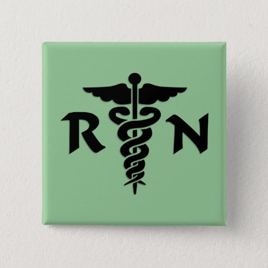RN Medical Symbol Button