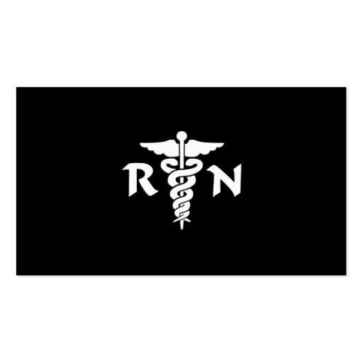 RN Medical Symbol Double-Sided Standard Business Cards (Pack Of 100)