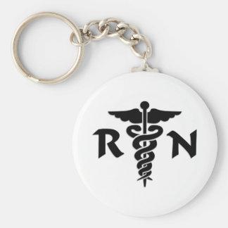 RN Medical Symbol Keychains