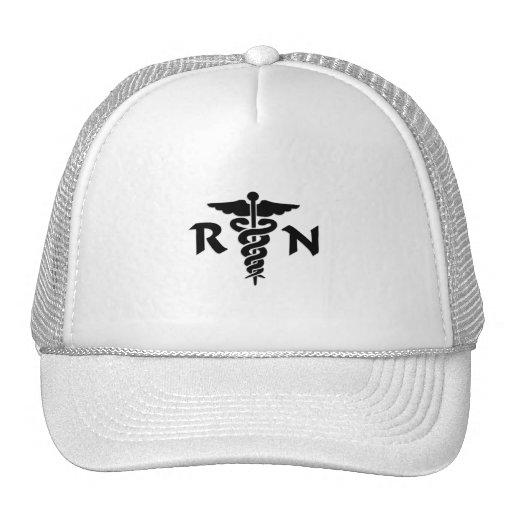 RN Medical Symbol Mesh Hat