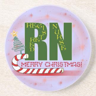 RN MERRY CHRISTMAS COASTERS REGISTERED NURSE