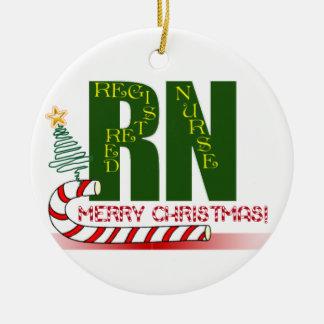 RN MERRY CHRISTMAS ORNAMENT REGISTERED NURSE