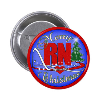 RN MERRY CHRISTMAS - REGISTERED NURSE BUTTON