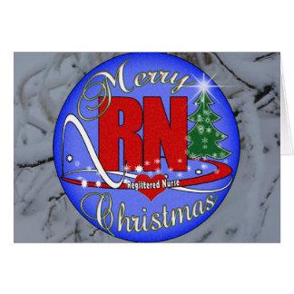 RN MERRY CHRISTMAS - REGISTERED NURSE CARD