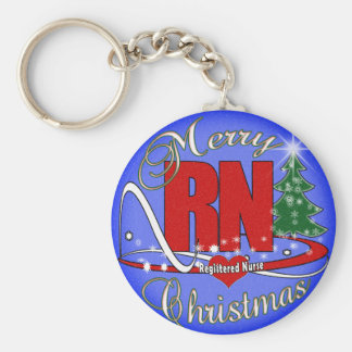 RN MERRY CHRISTMAS - REGISTERED NURSE KEYCHAIN