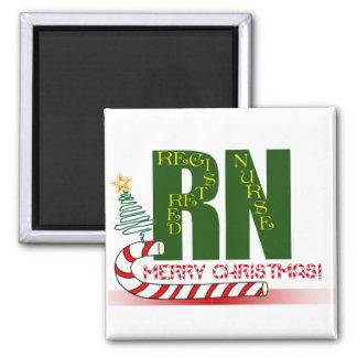 RN MERRY CHRISTMAS REGISTERED NURSE REFRIGERATOR MAGNET