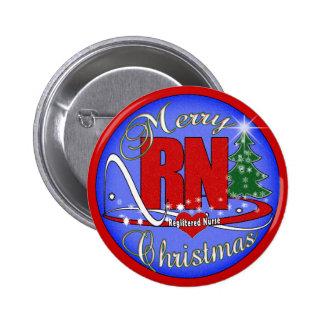 RN MERRY CHRISTMAS - REGISTERED NURSE PINBACK BUTTON