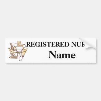 RN Nurse Collage car sticker