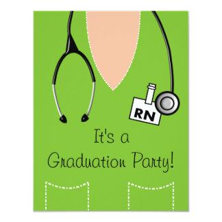 RN Nurse Graduation Invitation Scrub #39