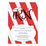RN Nurse graduation invites fun red glitter design