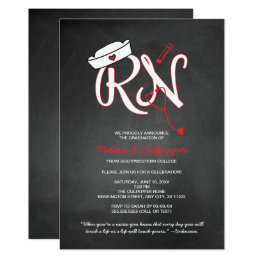Nursing graduation invitations announcements zazzle rn nurse graduation party pinning ceremony invites filmwisefo Images