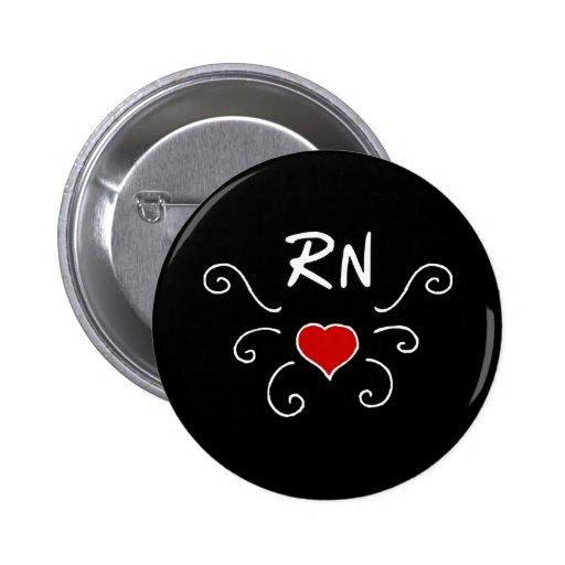RN Nurse Love Tattoo Buttons