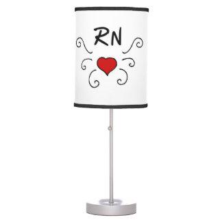 RN Nurse Love Tattoo Table Lamp