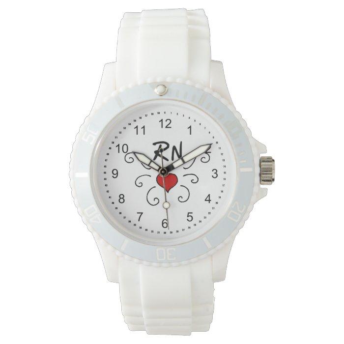RN Nurse Love Tattoo Wrist Watches