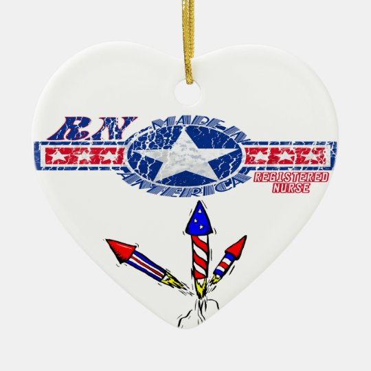 RN NURSE MADE IN THE USA CHRISTMAS ORNAMENT