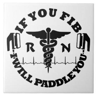 RN Nurse Paddle You Shock Tile