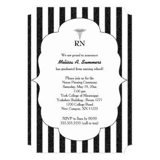 RN Nurse pinning ceremony invites black glitter
