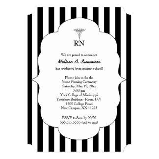 RN Nurse pinning ceremony invites black stripes