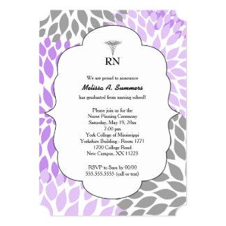 RN Nurse pinning ceremony invites lavender