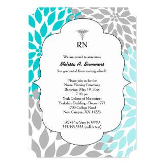 RN Nurse pinning ceremony invites turquoise