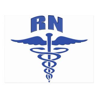 RN  Nurse Register Nurse Caduceus Postcard