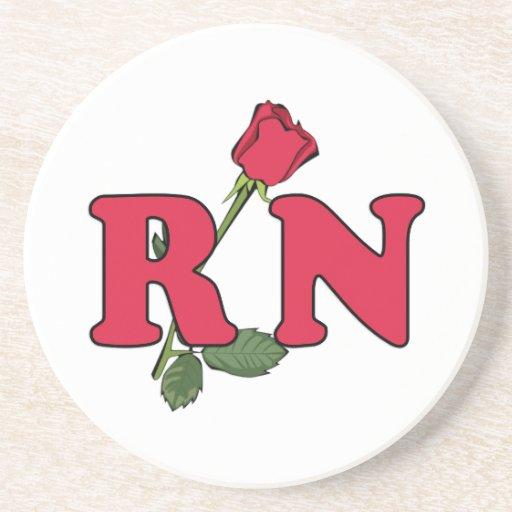 RN Nurse Rose Beverage Coaster