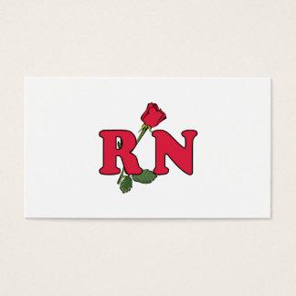 RN Nurse Rose Business Card