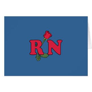 RN Nurse Rose Card