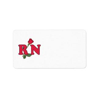 RN Nurse Rose Address Label