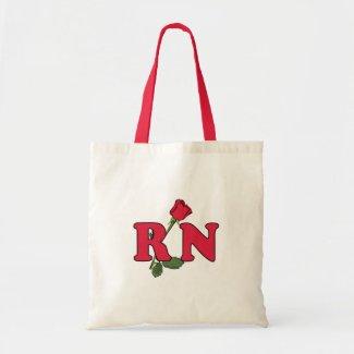 RN Nurse Rose Tote Bags