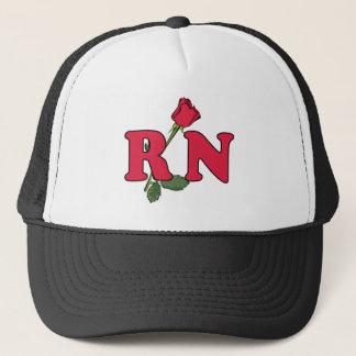 RN Nurse Rose Trucker Hat