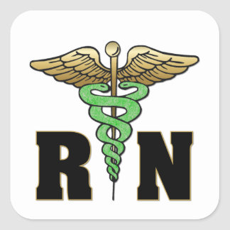 RN Nurse Square Sticker