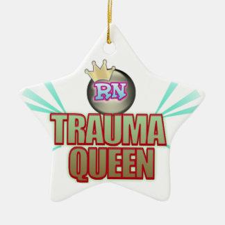 RN NURSE TRAUMA QUEEN CHRISTMAS ORNAMENT STAR